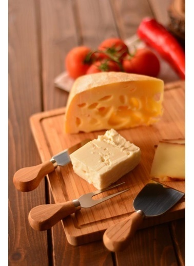 Bambum Bamwood Ezine 3 Parça Peynir Biçak Seti Renkli